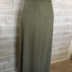 A-line ultra-suede skirt